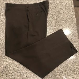 Men's Hagar Dress Pants Brown 44X32 Big&Tall